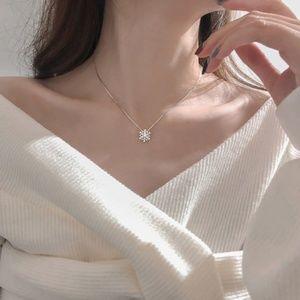 CZ Snowflake Necklace 925